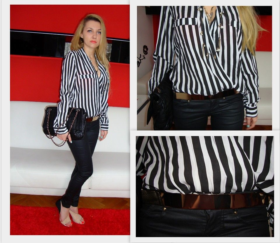 black and white striped shirt outfit ideas - Google Search ...