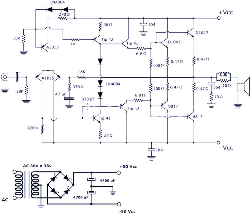 200w Power Amplifier Schematic Diagram Pcb Design Power Amplifiers Audio Amplifier Electronics Circuit