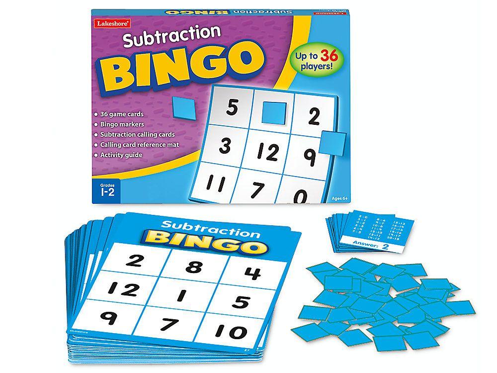 Subtraction Bingo in 2020 Bingo, Card games, Money bingo