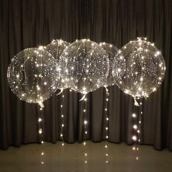 LED Party Balloons Kit 6er Pack 20-Zoll-Batterien und 10 Fuß LED-Schnur pro Ballon, perfekt für Helium oder Luft (USLBWW6A)