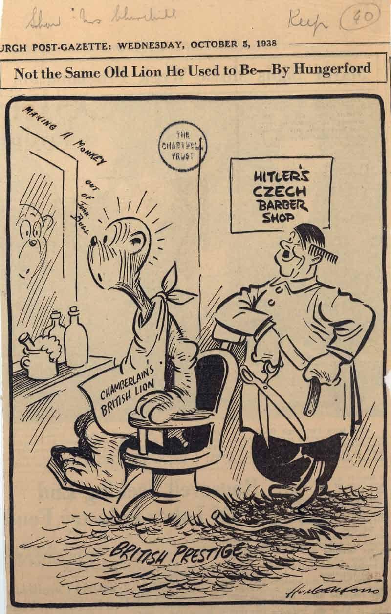 Appeasement Political Cartoon