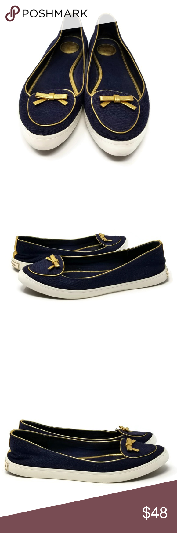 5dc45c83d55f5 Tory Burch Bow Canvas Sneaker Flats Dakota Size 7 Tory Burch Bow Canvas  Sneaker Flats Color