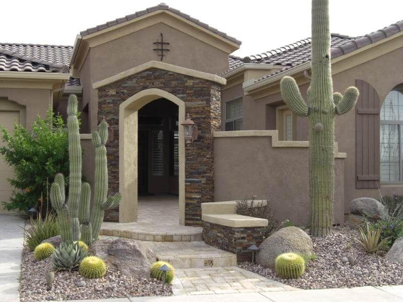 Desert Landscaping Ideas Front Courtyard Desert Landscaping