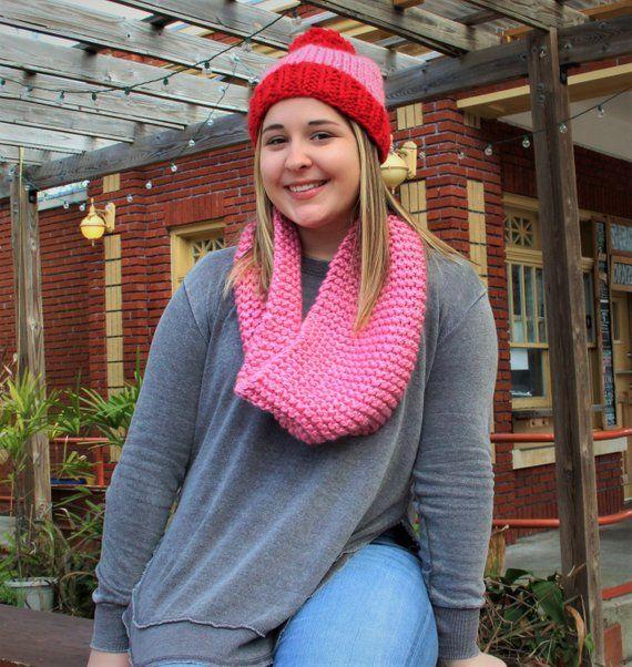 valentinesday outfit #valentinesday Valentines Day Chunky Knit Beanie Valentines Day | Etsy