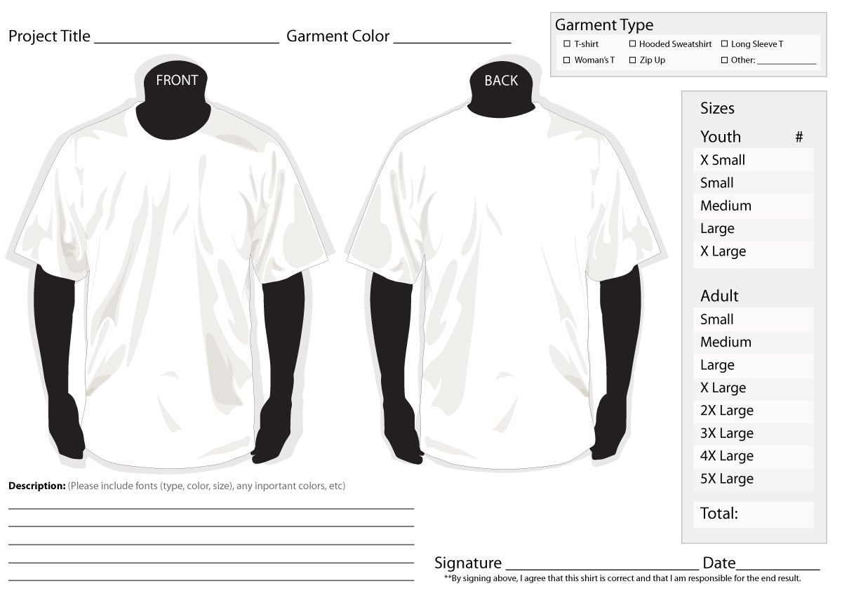 t shirt order form template oCsppwpy