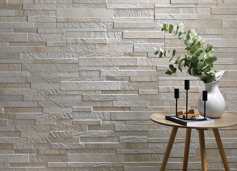 Split Face Stone Effect Tiles Are Perfect For Creating A Feature Wall In Living Areas