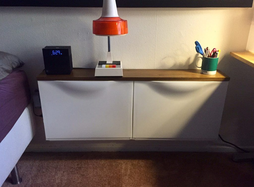 Ikea Trones Nightstand Side Table In 2019 Apartment