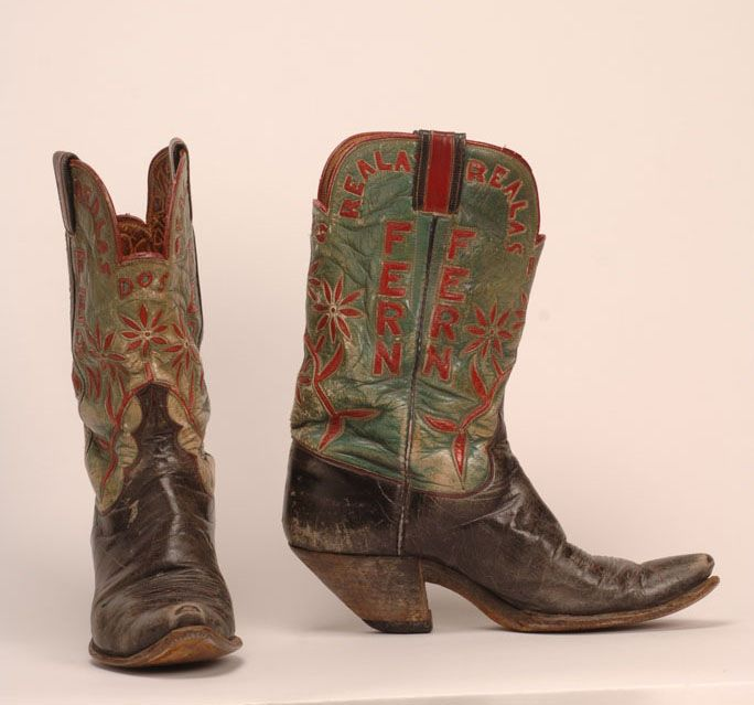 cbe6f3444d6 Boots worn by Ferm Sawyer in the 1940's. Courtesy of the National ...