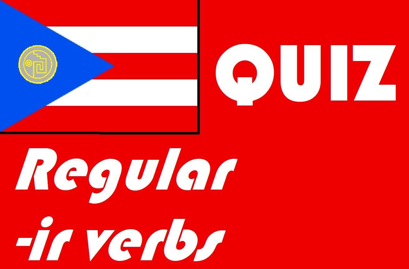 Spanish Regular Ir Verbs Quiz Or Worksheet