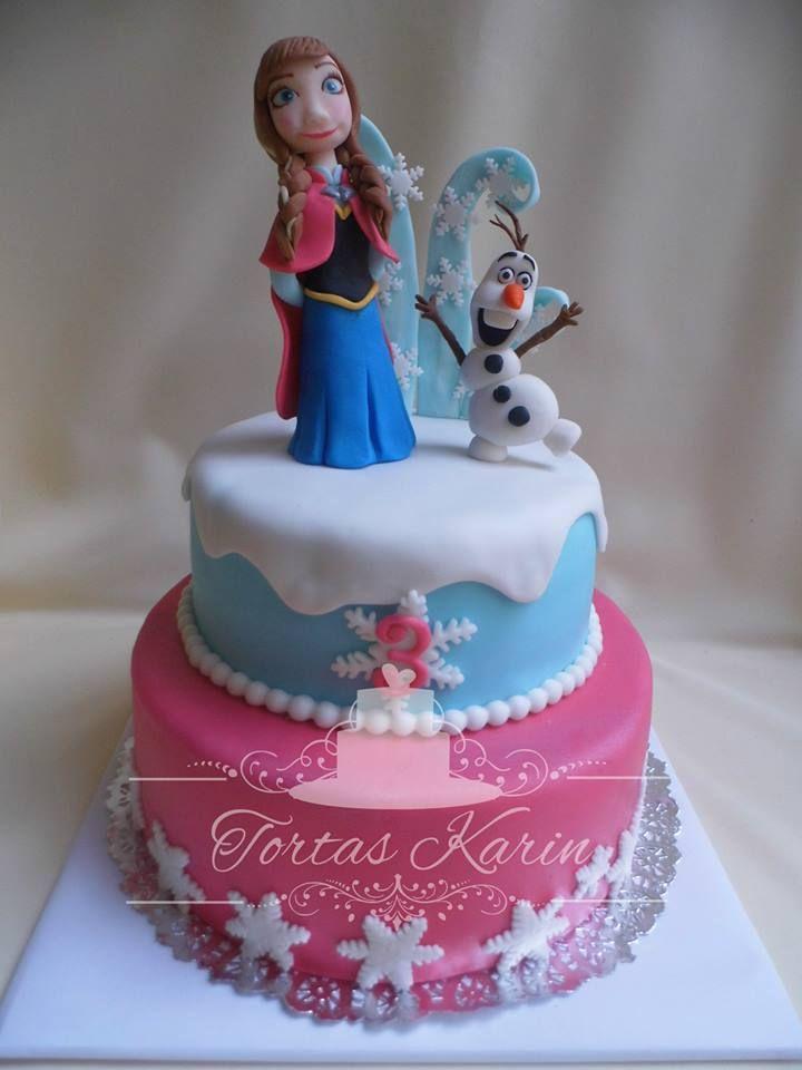 Torta Frozen Anna y Olaf