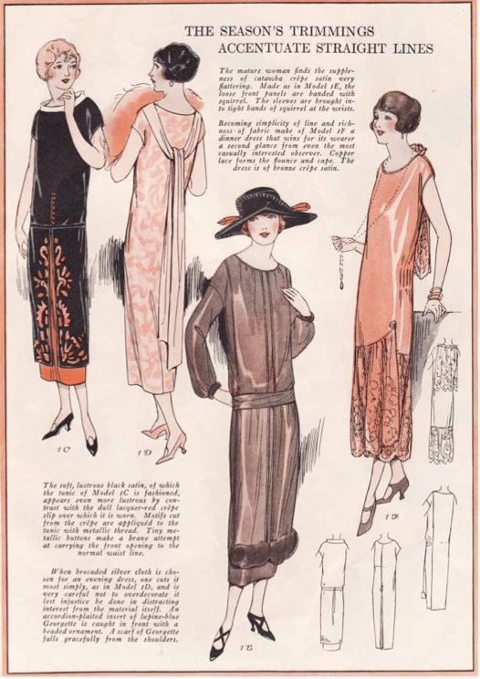 Vintage Sewing Pattern Instructions 1920\'s Flapper Easy One Piece ...