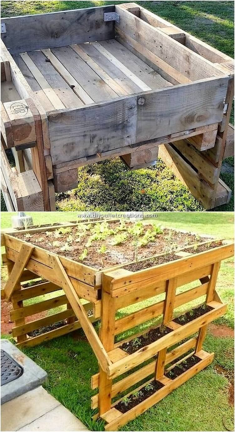 In Order To Add Your House Garden With Some Cheap And Amazing Planter Designs Then Choosing With This Image Idea Is Diy Hinterhof Diy Paletten Paletten Garten