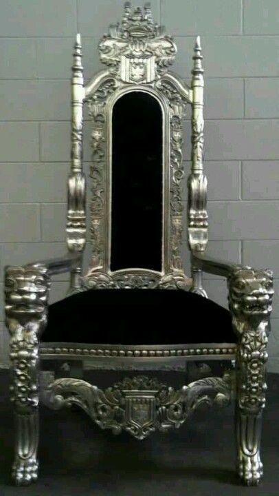 ゝ。Black Ornate Chair | Second hand chairs, Metal lawn ...