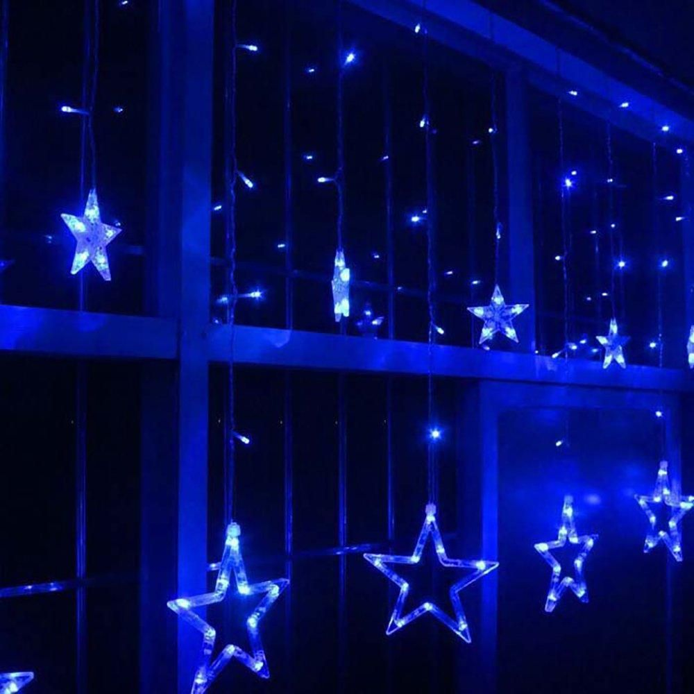 Star Curtain Blue Lights Cool Curtains Curtain Lights