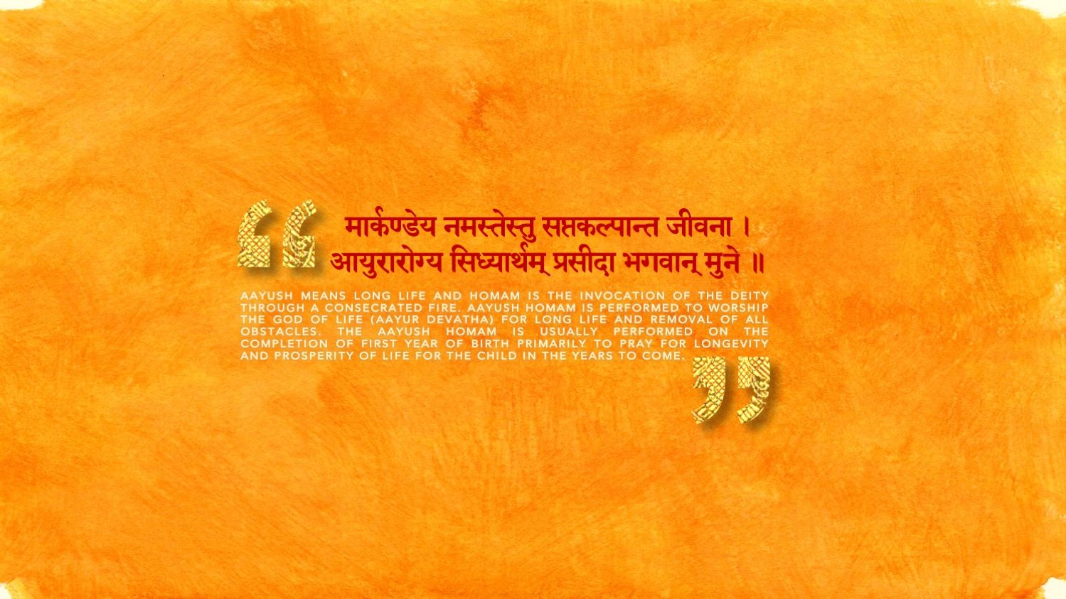 Aayush Homam invitation Back of the invite with a little blurb