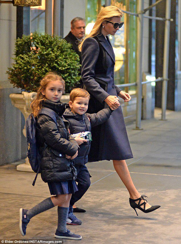 Ivanka Trump takes the kids on the school run #dailymail