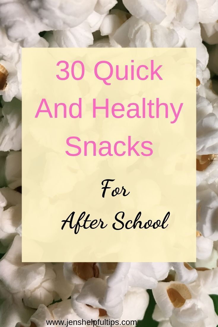 30 Quick and Healthy Snacks For After School images
