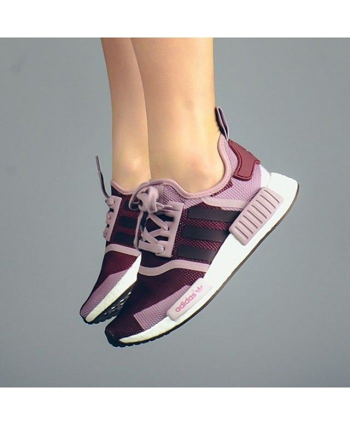 Adidas NMD R1 Blanch Bordeaux Nuit Rouge S75721 Make you