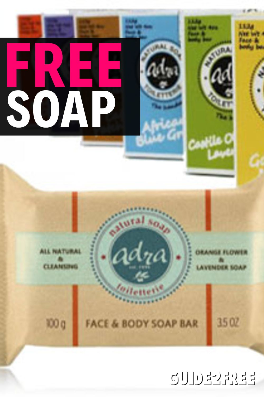 FREE Sample of Adra Natural Soap Free stuff by mail