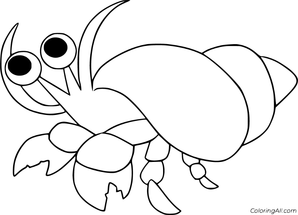 15 Free Printable Hermit Crab Coloring Pages In Vector Format Easy To Print From Any Device In 2020 Animal Coloring Pages Horse Coloring Pages Mandala Coloring Pages