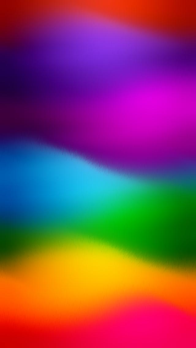 Rainbow Waves - Beautiful Gradient iPhone wallpapers @mobile9   iPhone 8 & iPhone X Wallpapers ...