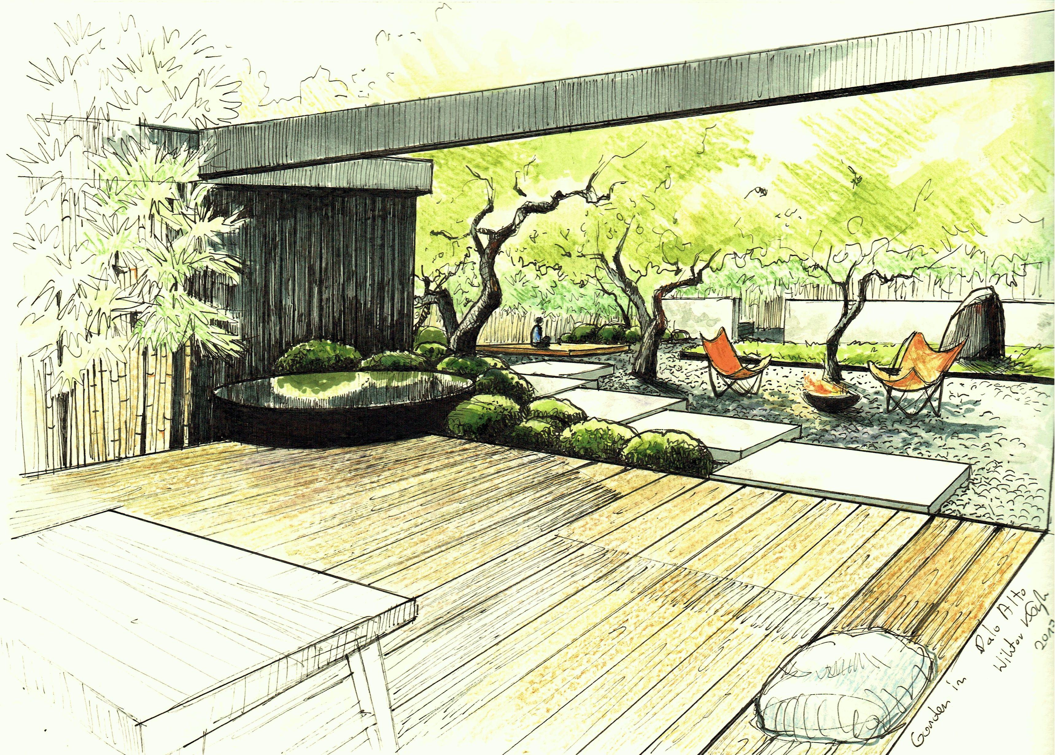 Zen Garden in California by Wiktor Kłyk.