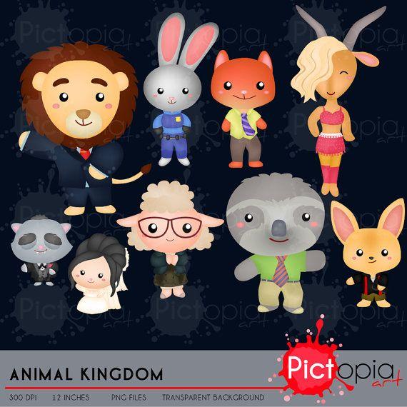 Animal Kingdom Clipart Lindo Animal Clip Art Animal En Etsy Clip Art Animal Clipart Digital Clip Art