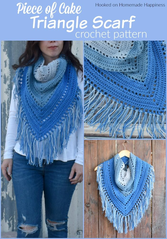 Piece Of Cake Triangle Scarf   Hooked On Homemade Happiness - Diy Crafts