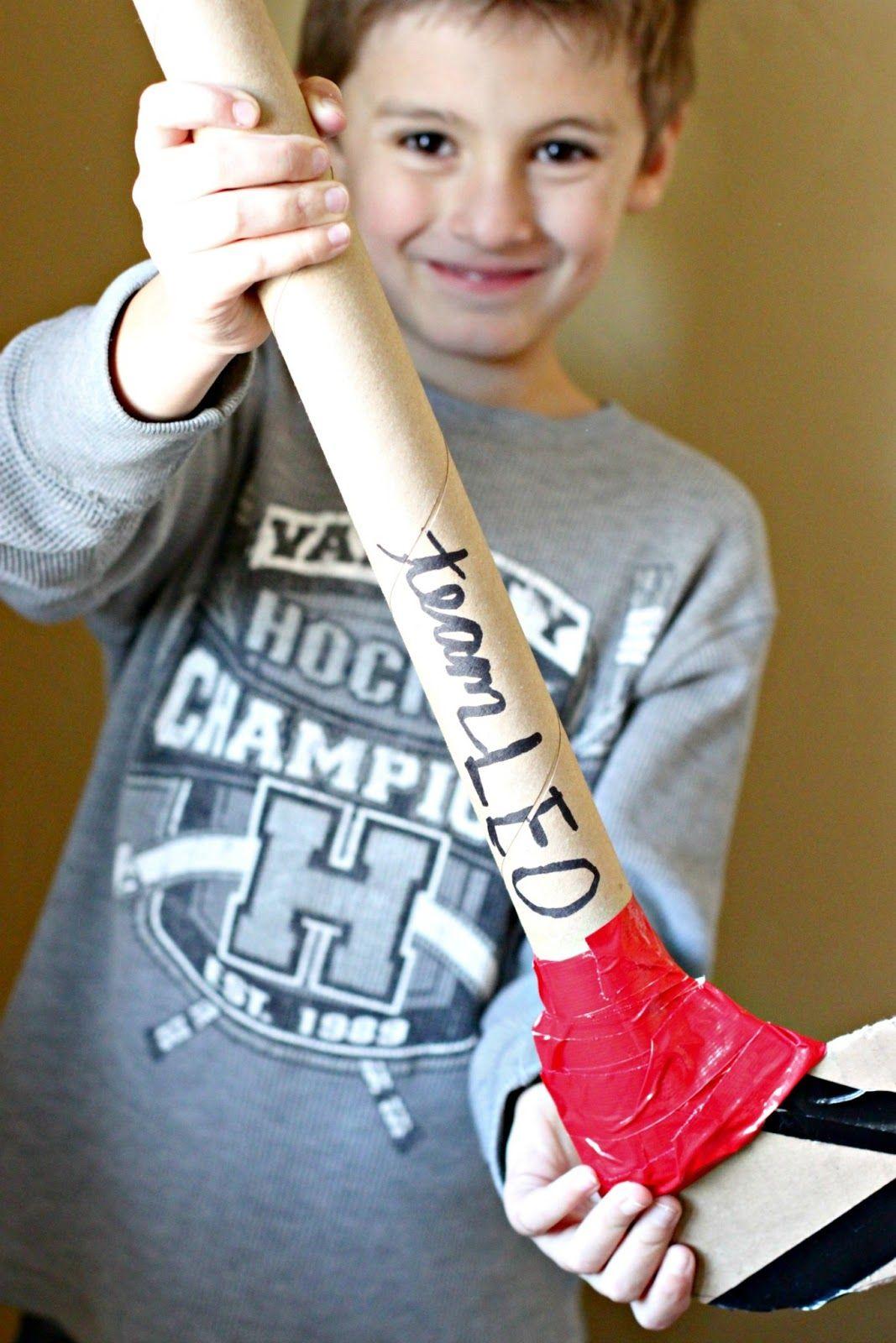 Diy Cardboard Hockey Sticks For Indoor Floor Play Ideas Simple Circuits Kids Http Wwwmakingboysmencom 2013 04
