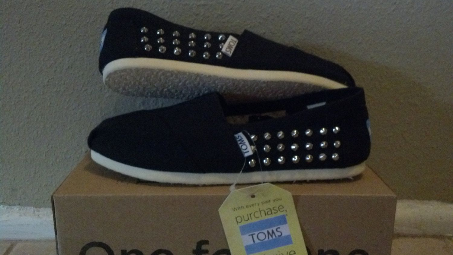 Studded TOMS Shoes. $95.00, via Etsy.