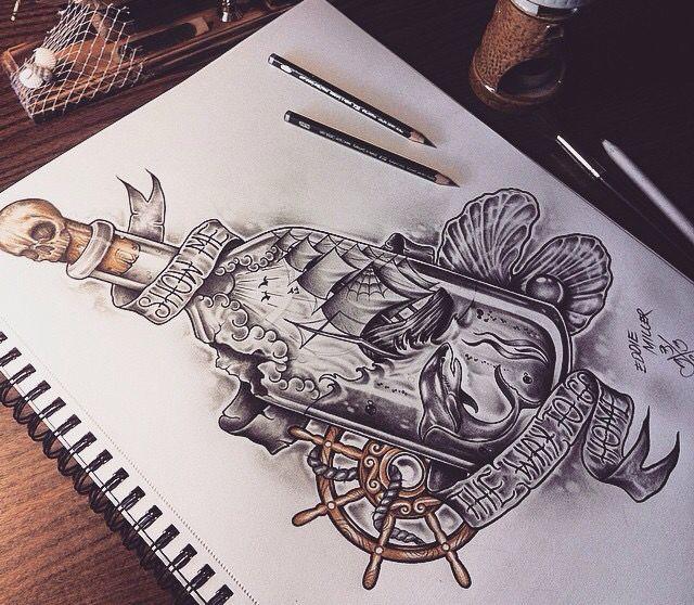Tattoo Zeichnungen, Old School