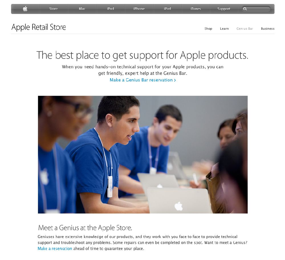Make an appointment with an Apple Genius and get your