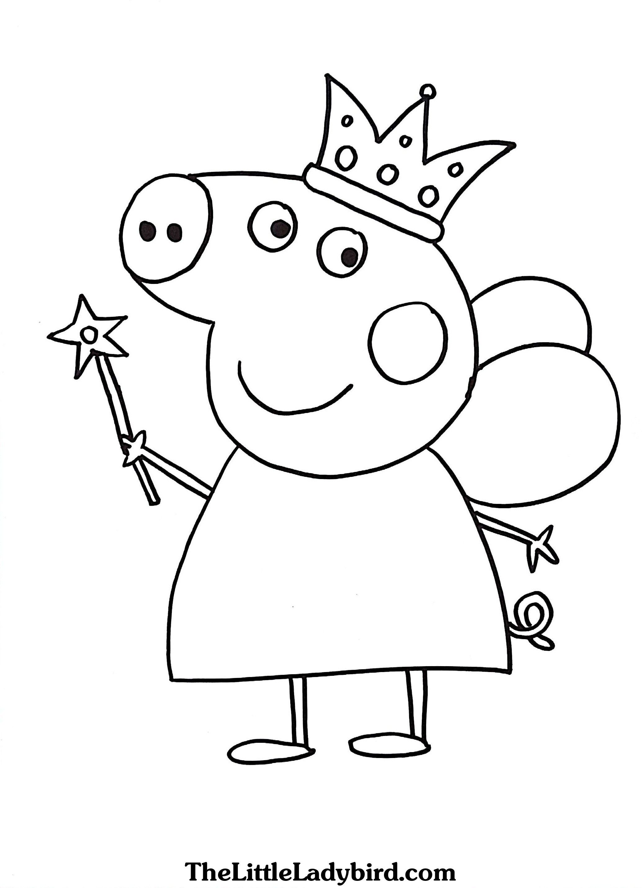 Peppa Pig Valentines Coloring Pages Bubakids Com In 2020 Peppa Pig Coloring Pages Peppa Pig Colouring Birthday Coloring Pages