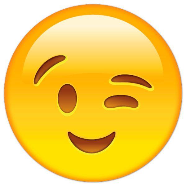 Resultado de imagen para emoji guiñando el ojo