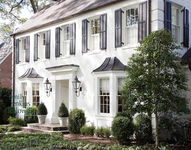 Which Style Home Would You Choose Centsational Style Traditional Home Exteriors White Brick Houses Colonial Exterior