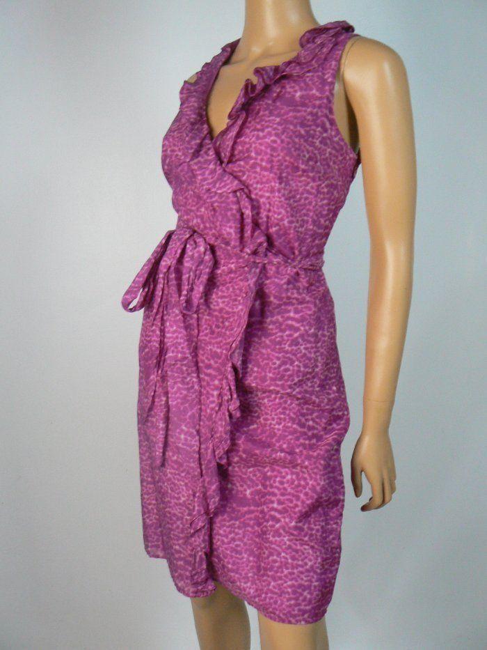 Details About Ann Taylor Loft Wrap Dress 10 Silk Blend