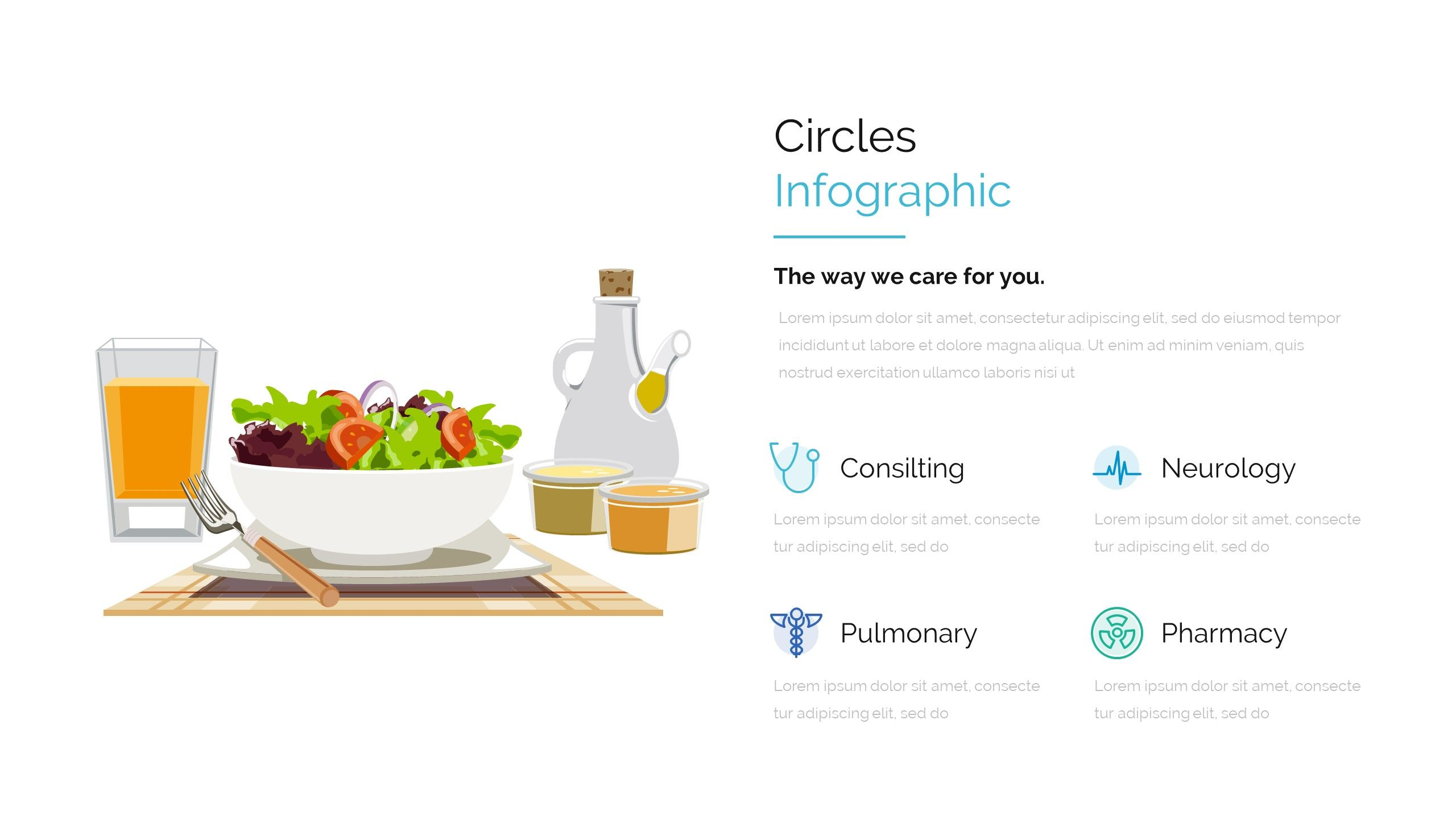 Modern medicine and healthcare powerpoint template