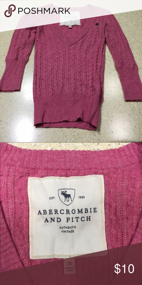 Abercrombie and Fitch Sweater | Pink, Tops and V necks