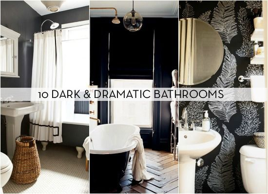 Eye Candy 10 Bathrooms That Have Gone To The Dark Side