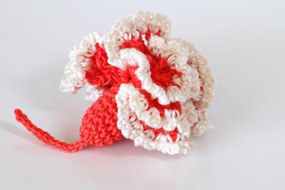 Crochet Brooch Pdf Pattern Crochet Carnation Flower Por Etty2504