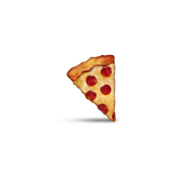 Slice Of Pizza ❤ Liked On Polyvore Featuring Home, Kitchen U0026 Dining, Emojis,