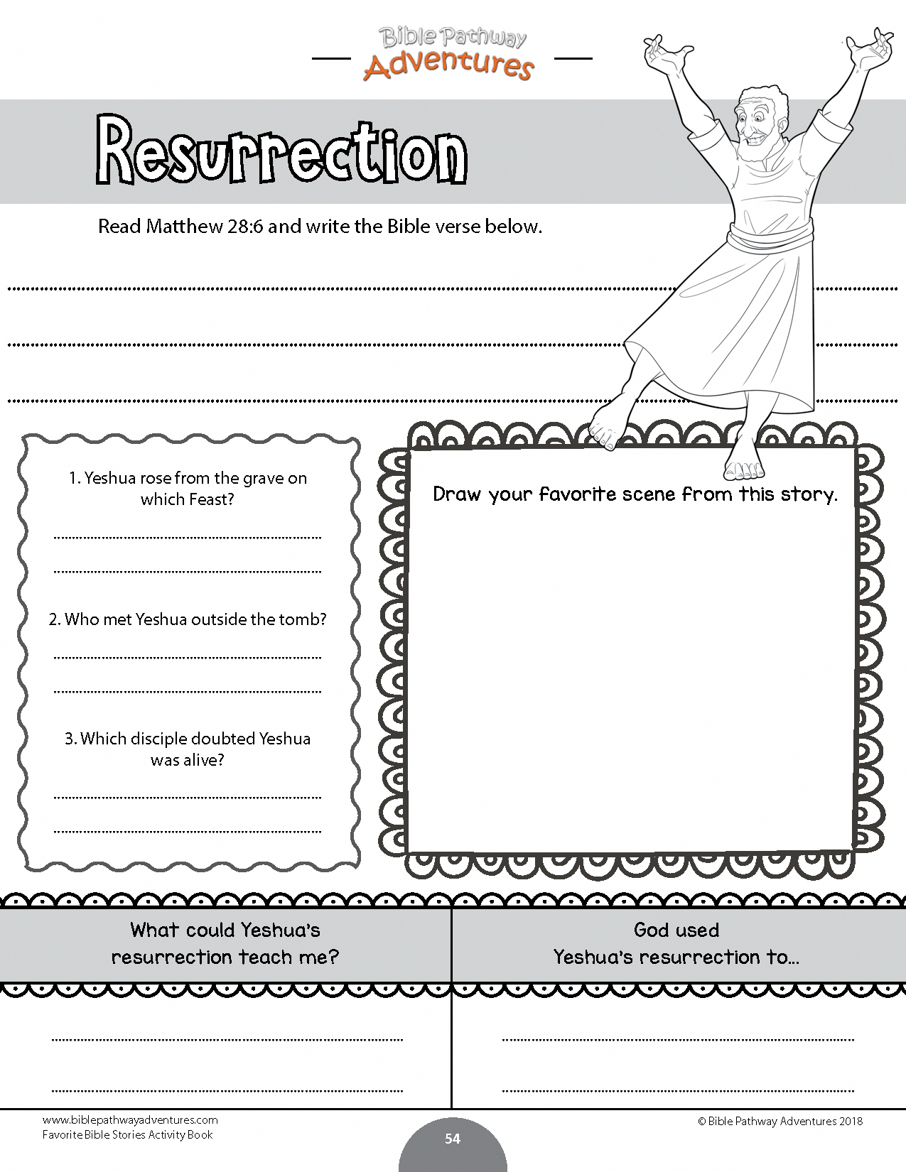 Resurrection Worksheet For Kids