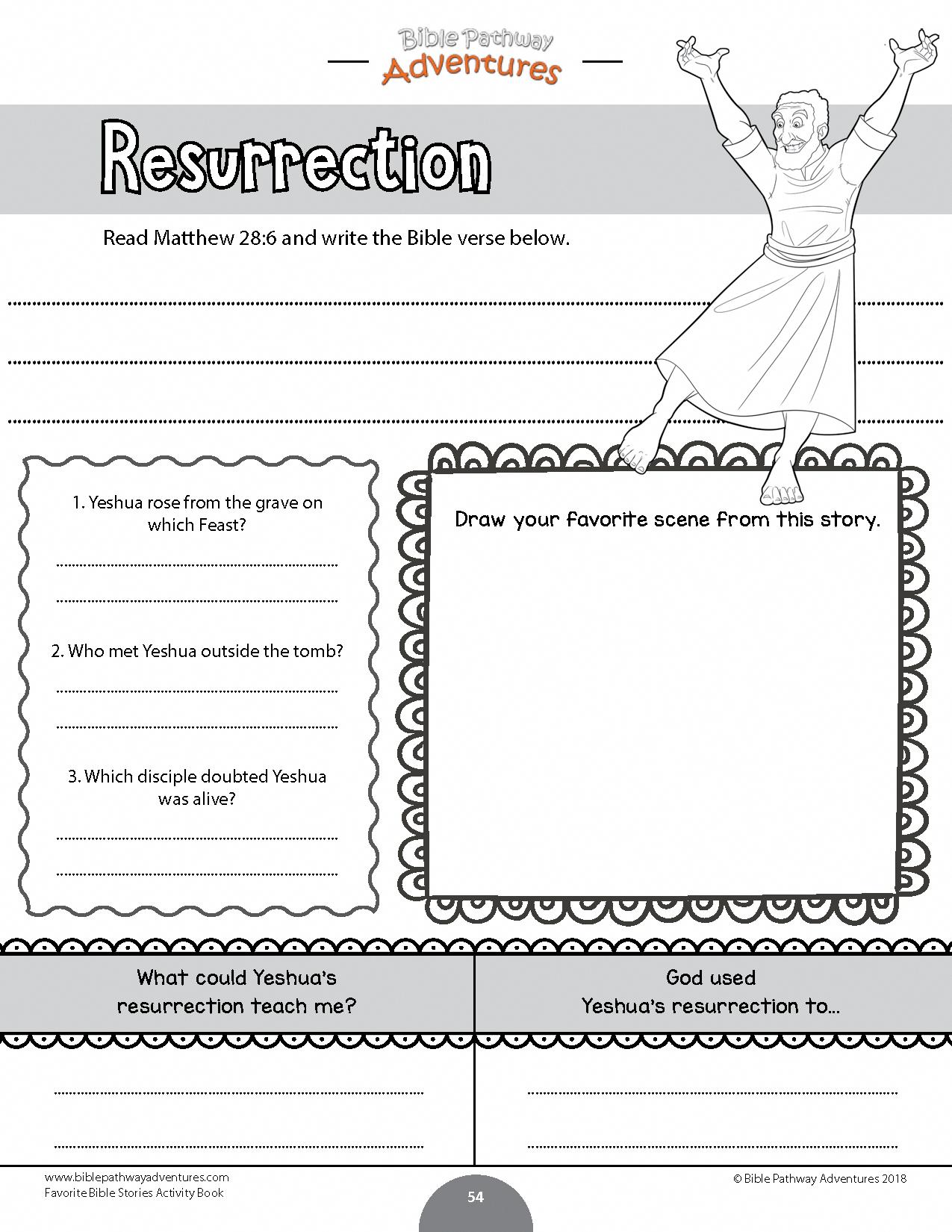 Resurrection Worksheet For Kids