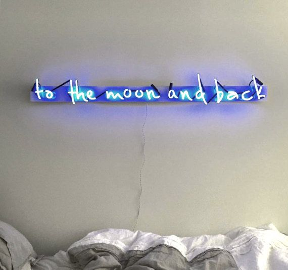 Bedroom Neon Signs Best Bedroom Ceiling Design Bedroom Athletics Black Friday Halloween Bedroom Decorating Ideas: To The Moon And Back Plexiglass-Mounted Neon By