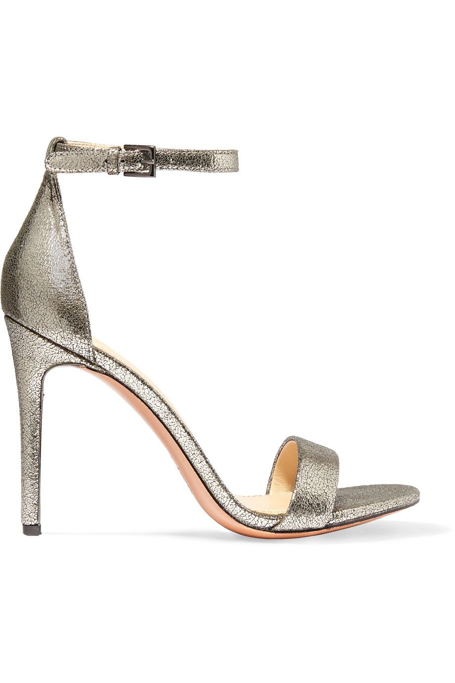 TORY BURCH Keri Metallic Suede Sandals. #toryburch #shoes #sandals
