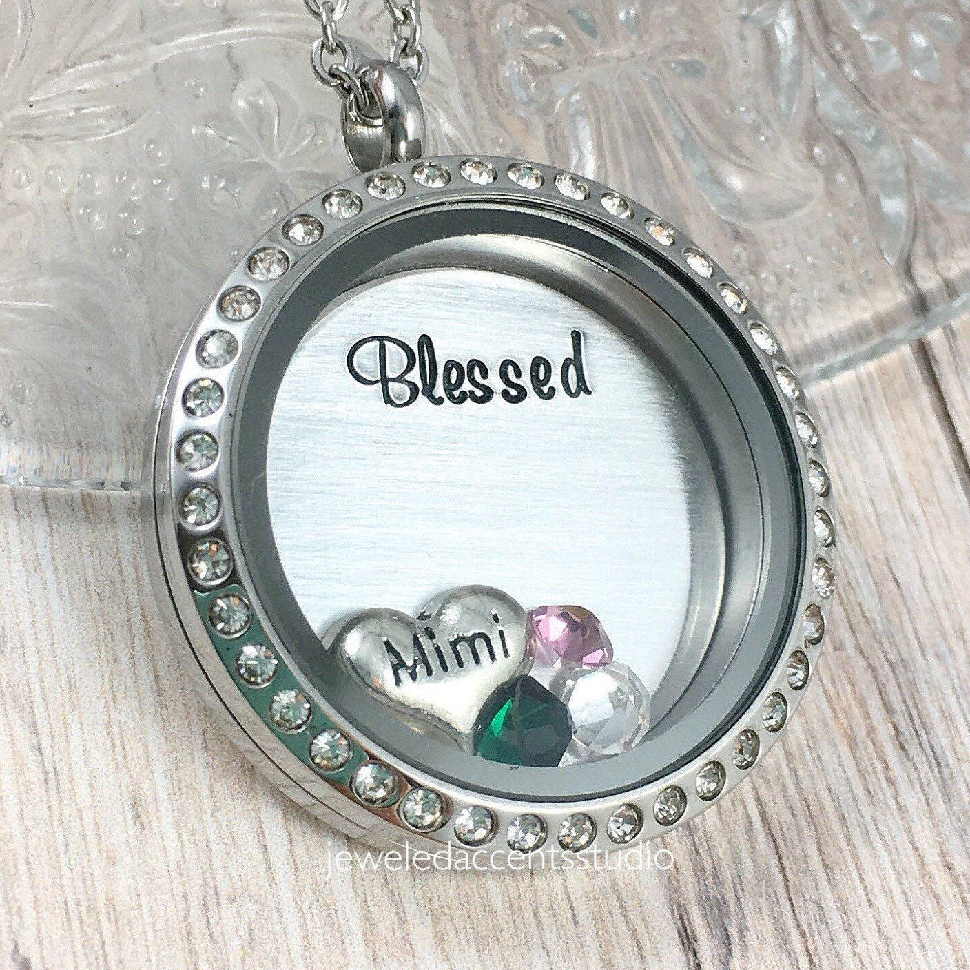 grandma pewter gifts with personalized products birthstones birthstone and stones grandkid heart heel nana collections mom necklace