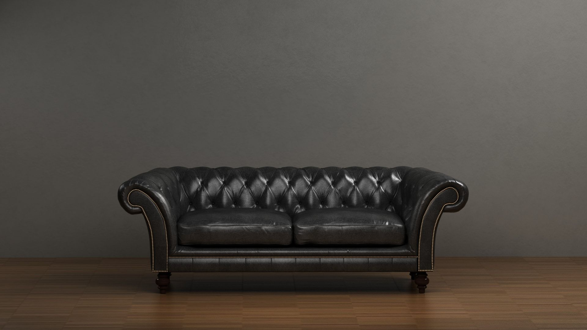 English Chesterfield Leather Sofa - Made in USA | Leather ...
