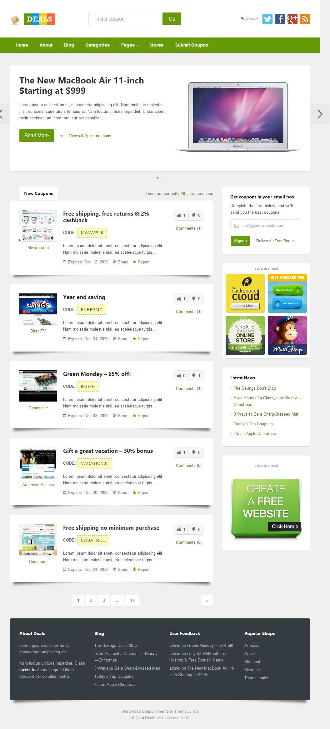 Deals WordPress Coupon Themes (With images) Wordpress