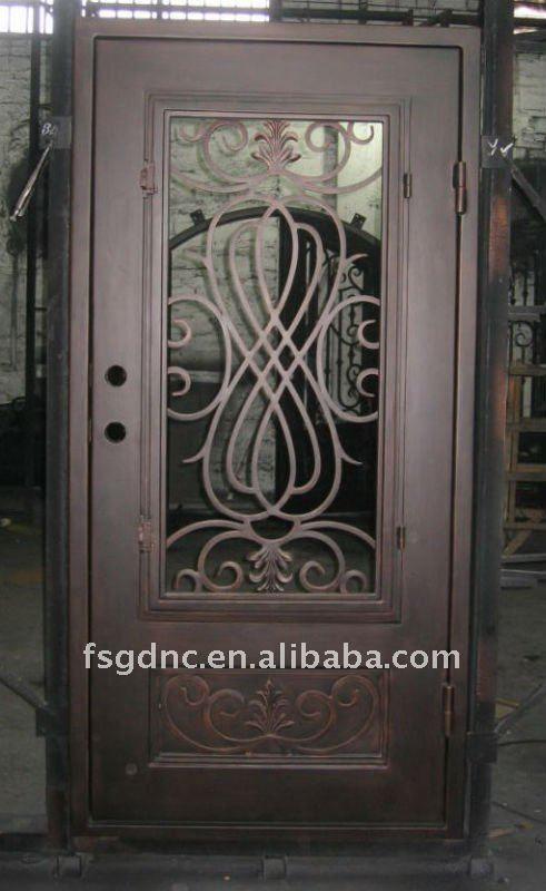 Square top metal 491 800 p xeles puertas for Puertas de metal para exterior