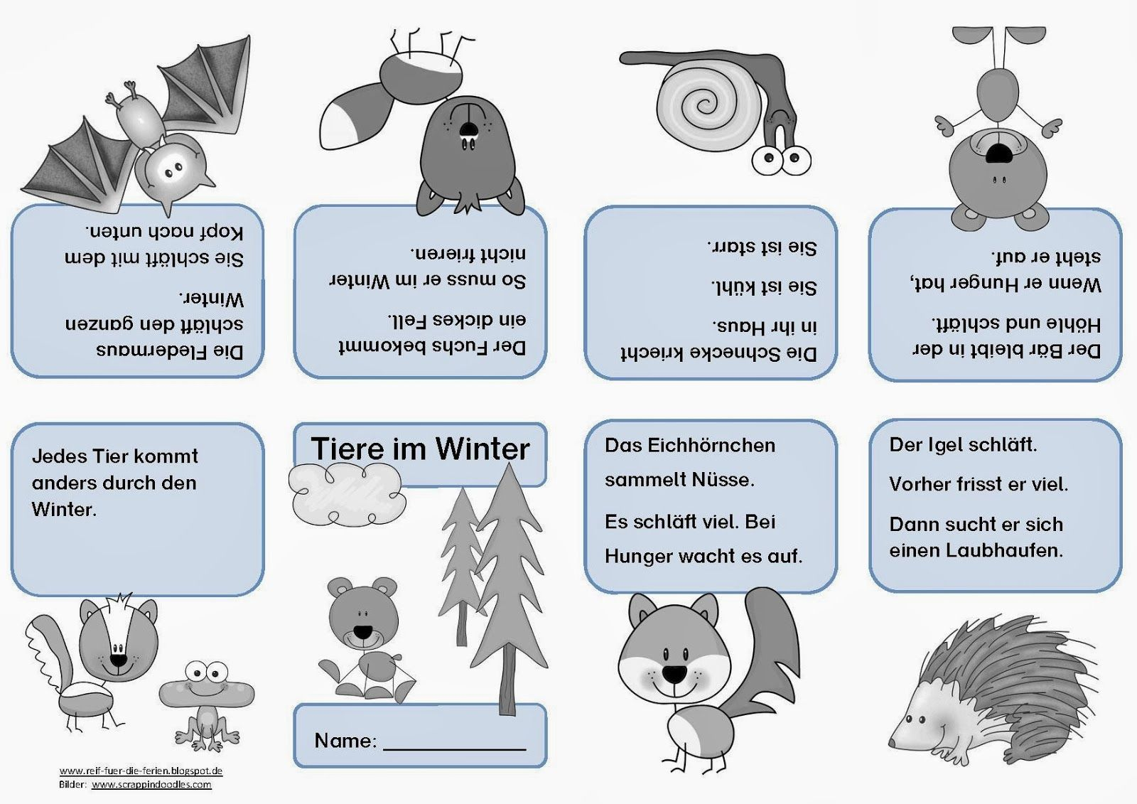 Tiere im Winter - Faltheft | Kindergarten | Pinterest | Winter, Tier ...